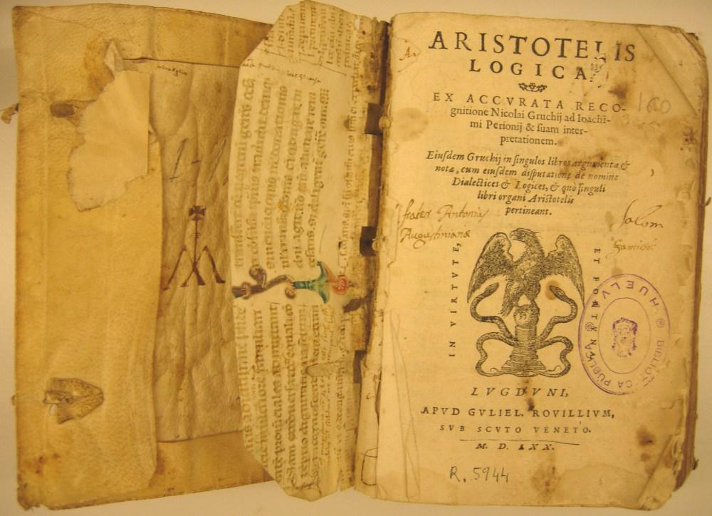 logica aristotele organon